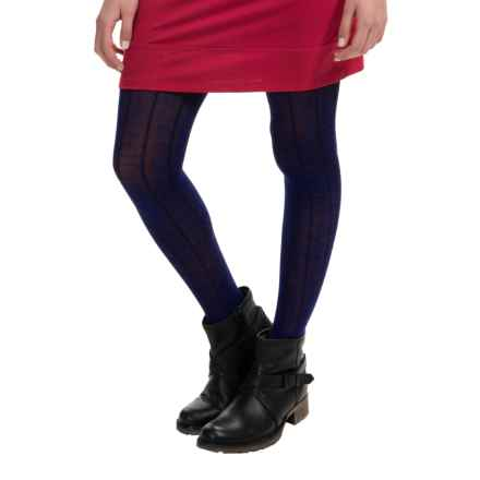 SmartWool Chevron Tights - Merino Wool (For Women) in Ink Heather - Closeouts