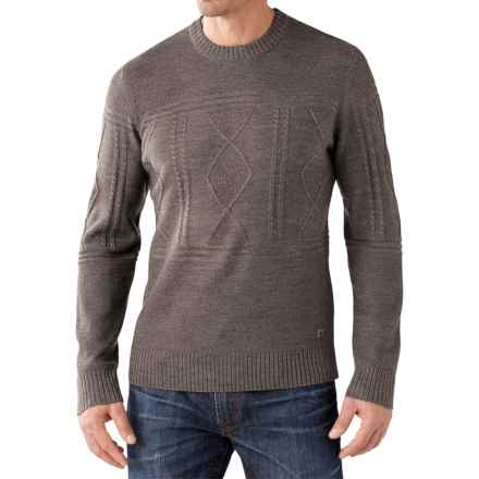 SmartWool Cheyenne Creek Cable-Knit Sweater - Merino Wool (For Men) in Taupe Heather - Closeouts