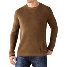 SmartWool Cheyenne Creek Crew Sweater - Merino Wool (For Men) in Caramel Heather - Closeouts