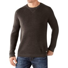 SmartWool Cheyenne Creek Crew Sweater - Merino Wool (For Men) in Chocolate Heather - Closeouts