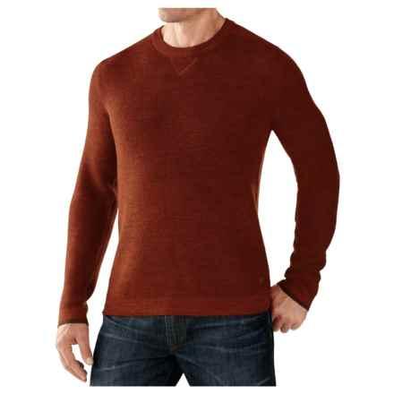 SmartWool Cheyenne Creek Crew Sweater - Merino Wool (For Men) in Cinnamon Heather - Closeouts