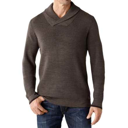 SmartWool Cheyenne Creek Sweater - Merino Wool (For Men) in Taupe Heather - Closeouts