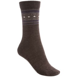 SmartWool Chinchero Socks - Merino Wool, Crew (For Women) in Cinnamon Heather