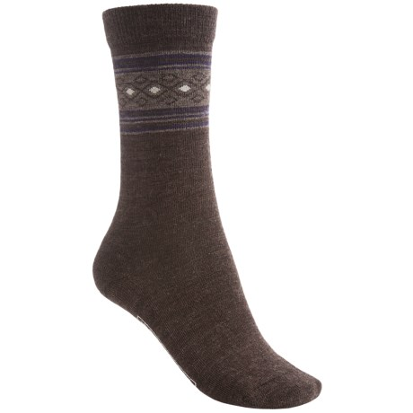 SmartWool Chinchero Socks - Merino Wool, Crew (For Women) in Chestnut Heather