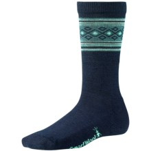 SmartWool Chinchero Socks - Merino Wool, Crew (For Women) in Deep Navy Heather - Closeouts