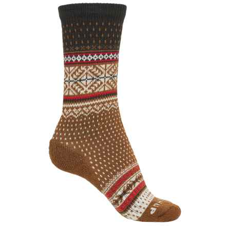 SmartWool CHUP Genser Socks - Merino Wool, Crew (For Women) in Carmel Heather - Closeouts