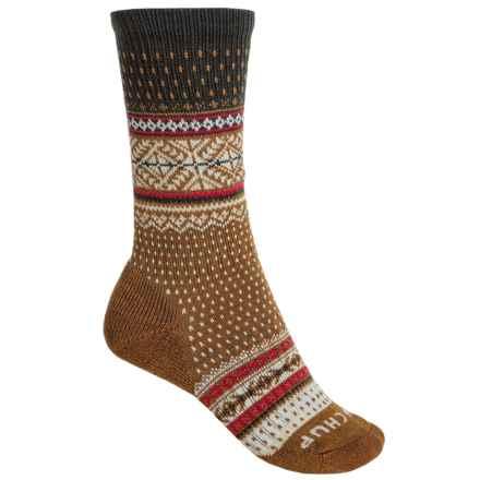 SmartWool CHUP Genser Socks - Merino Wool, Crew (For Women) in Carmel Marl - Closeouts