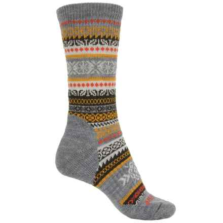 SmartWool CHUP Realta Socks - Merino Wool, Crew (For Women) in Light Grey Heather - Closeouts