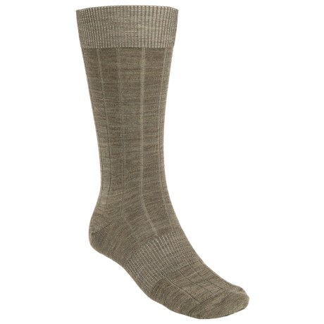 SmartWool City Slicker Socks - Merino Wool (For Men) in Chino Heather