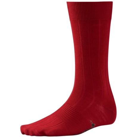 SmartWool City Slicker Socks - Merino Wool (For Men) in Crimson