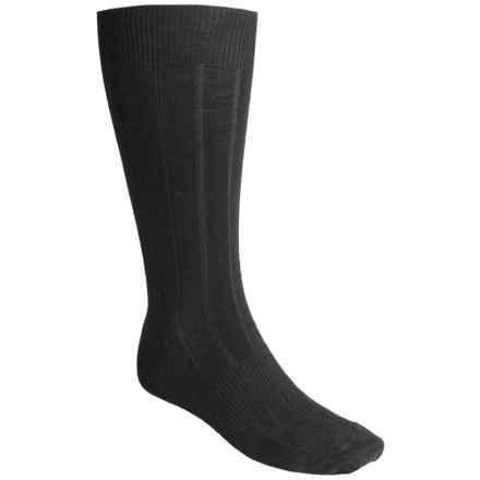 SmartWool City Slicker Socks - Merino Wool, Mid Calf (For Men) in Black - 2nds