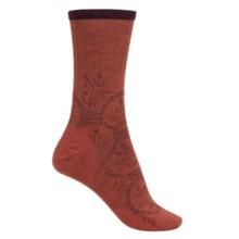 SmartWool Cloche Non-Binding Socks - Merino Wool, Crew (For Men and Women) in Moab Rust Heather - 2nds