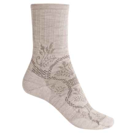 SmartWool Cloche Non-Binding Socks - Merino Wool, Crew (For Women) in Natural Heather - 2nds