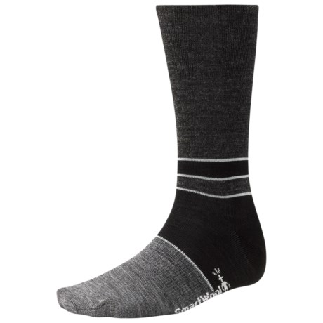 SmartWool Color-Block Denim Socks - Merino Wool, Crew, Lightweight (For Men) in Black Wash