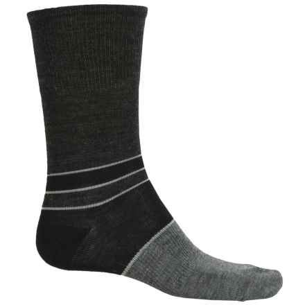 SmartWool Color-Block Denim Socks - Merino Wool, Crew, Lightweight (For Men) in Black - 2nds