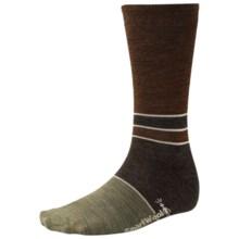 SmartWool Color-Block Denim Socks - Merino Wool, Crew, Lightweight (For Men) in Chestnut Wash - 2nds