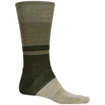 SmartWool Color-Block Denim Socks - Merino Wool, Crew, Lightweight (For Men) in Dark Denim - 2nds