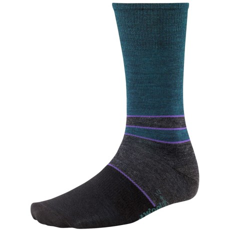 SmartWool Color-Block Denim Socks - Merino Wool, Crew, Lightweight (For Men) in Deep Navy