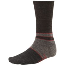 SmartWool Color-Block Denim Socks - Merino Wool, Crew, Lightweight (For Men) in Taupe Heather - 2nds