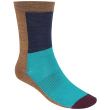 SmartWool Color-Block Socks - Ultralight, Crew, Merino Wool (For Men and Women) in Caramel Heather - Closeouts
