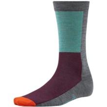 SmartWool Color-Block Socks - Ultralight, Crew, Merino Wool (For Men and Women) in Medium Gray - Closeouts