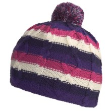 SmartWool Color Cable Beanie Hat - Merino Wool (For Kids) in Grape - Closeouts