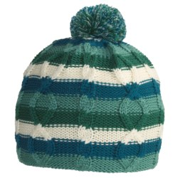SmartWool Color Cable Beanie Hat - Merino Wool (For Kids) in Turquoise