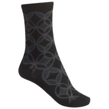 SmartWool Concentric Unwound Socks - Merino Wool, Crew (For Women) in Black - 2nds