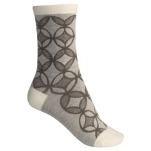 SmartWool Concentric Unwound Socks - Merino Wool, Crew (For Women) in Natural Heather - 2nds