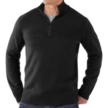 SmartWool Conundrum Peak Sweater - Merino Wool, Zip Neck (For Men) in Black - Closeouts