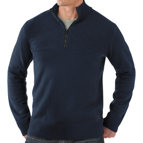 SmartWool Conundrum Peak Sweater - Merino Wool, Zip Neck (For Men) in Deep Navy