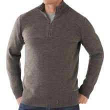 SmartWool Conundrum Peak Sweater - Merino Wool, Zip Neck (For Men) in Taupe Heather - Closeouts