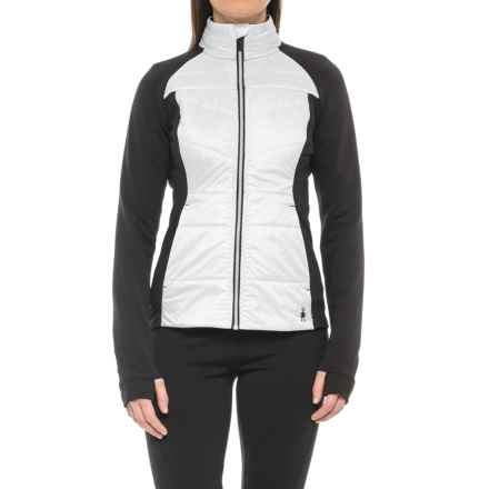 SmartWool Corbet 120 Jacket - Insulated, Merino Wool (For Women) in Black/White - Closeouts