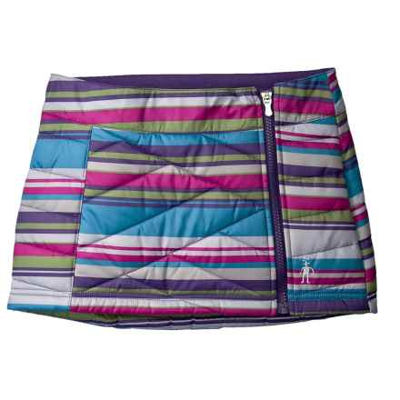 SmartWool Corbet 120 Printed Skirt - Insulated, Merino Wool Lined (For Girls) in Multi Stripe - Closeouts