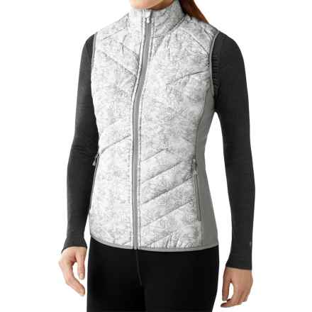 SmartWool Corbet 120 Printed Vest - Merino Wool, Insulated (For Women) in White - Closeouts