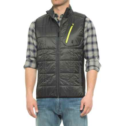 SmartWool Corbet 120 Vest - Merino Wool, Insulated (For Men) in Graphite/Black - Closeouts