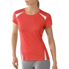 SmartWool Cortina Tech T-Shirt - UPF 25, Short Sleeve (For Women) in Sunrise - Closeouts