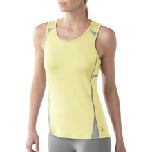 SmartWool Cortina Tech Tank Top - Merino Wool (For Women) in Amarillo - Closeouts