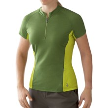 SmartWool Cottonwood Cycling Jersey - Zip Neck, Short Sleeve (For Women) in Juniper - Closeouts