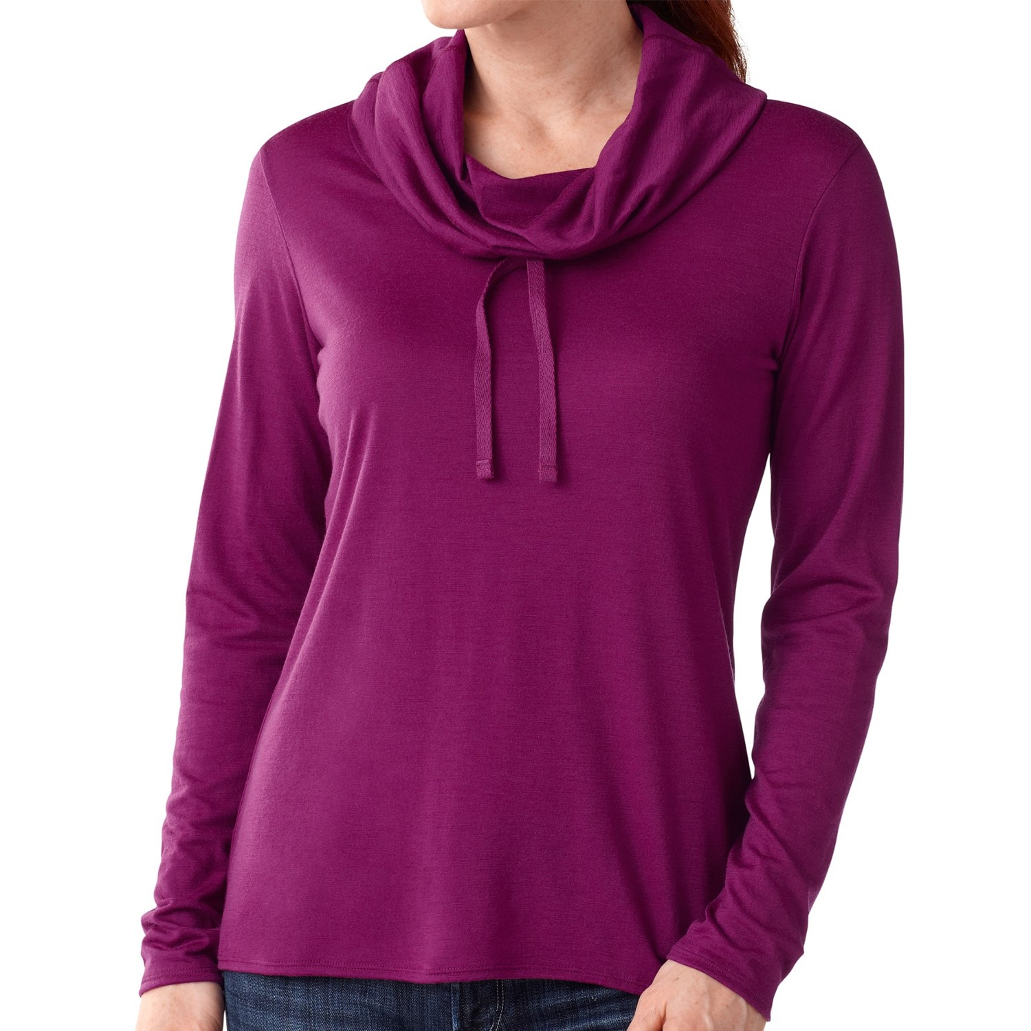 Smartwool cowl neck shirt merino wool long sleeve for for Merino wool shirt womens