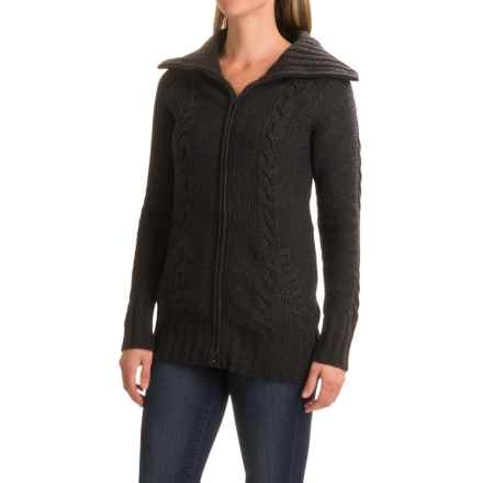 SmartWool Crestone Sweater Jacket - Merino Wool (For Women) in Charcoal Heather - Closeouts