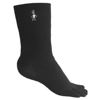 SmartWool Crew Toe Socks - Merino Wool, Lightweight (For Men and Women) in Black