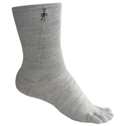 SmartWool Crew Toe Socks - Merino Wool, Lightweight (For Men and Women) in Silver