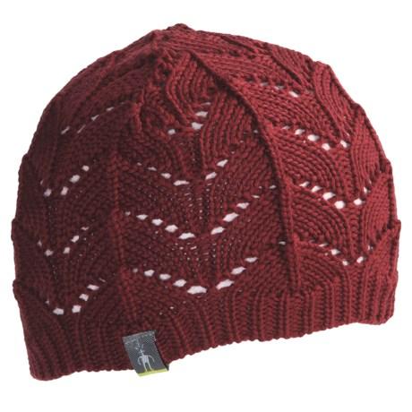 SmartWool Crochet Beanie Hat (For Women) in Clay