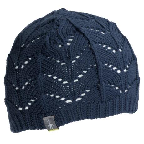 SmartWool Crochet Beanie Hat (For Women) in Navy Heather