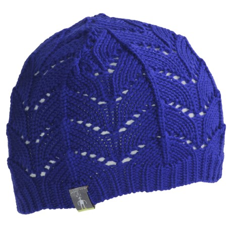 SmartWool Crochet Beanie Hat (For Women) in Royal