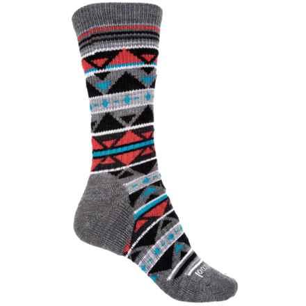 SmartWool Crystal Grid Socks - Merino Wool, Crew (For Women) in Medium Gray Heather - Closeouts