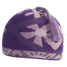 SmartWool Daisy Beanie Hat - Merino Wool (For Kids) in Grape - Closeouts