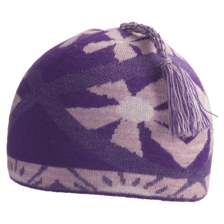 SmartWool Daisy Beanie Hat - Merino Wool (For Kids) in Grape