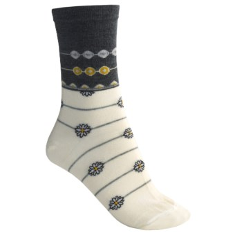 SmartWool Daisy Chain Socks - Merino Wool, Crew (For Women) in Natural